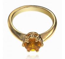 UC101-18 Кольцо с кристаллом Сваровски, размер 18