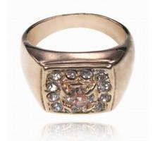 UC131-21 Кольцо со стразами и кристаллом Сваровски, размер 21