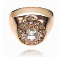 UC133-22 Кольцо со стразами и кристаллом Сваровски, размер 22