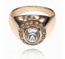 UC134-22 Кольцо со стразами и кристаллом Сваровски, размер 22