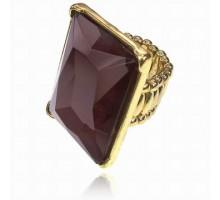 UC139-R Безразмерное стрейч-кольцо с тёмно-красным кристаллом