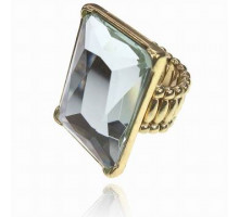 UC139-W Безразмерное стрейч-кольцо с прозрачным кристаллом