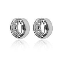 UD132 Серьги-колечки, цвет серебряный