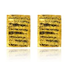 UD138 Серьги-клипсы с полосами, цвет жёлтый