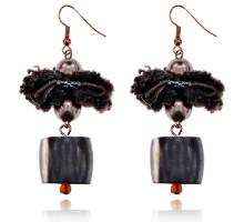 UD140 Серьги Бант, цвет коричневый