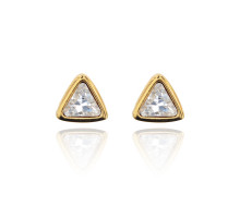 UD161 Серьги Треугольник с кристаллами