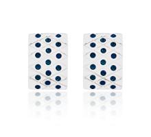 UD236-b Серьги со стразами, цвет синий