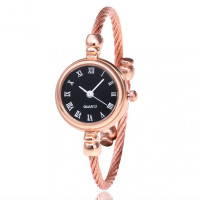 WA046-BK Часы - браслет, чёрный циферблат