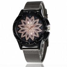 WA073 Часы наручные Мандала, цвет чёрный с ремешком