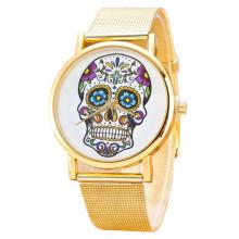 WA080 Наручные часы Череп 23 см, цвет золот.